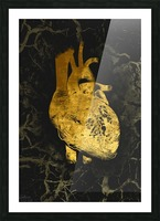 Golden Heart Picture Frame print