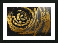 Golden rose Picture Frame print