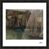 Boats at Treport Picture Frame print