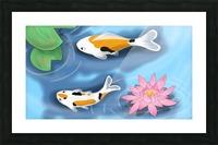 Cartoon Koi fish Picture Frame print