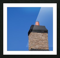 Stone Chimeny with Metal Cap Picture Frame print