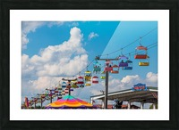 Skylift Over Cumming Fair Picture Frame print
