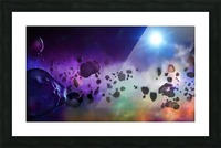An Asteroids Point of View Picture Frame print