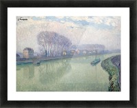 The Marne at Pomponne Picture Frame print