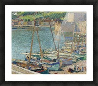 Fishing Boats on the Shore at Collioure Picture Frame print