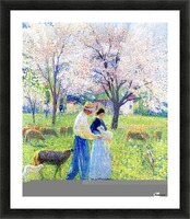 Lovers at Spring Picture Frame print