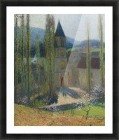 The Church of Labastide-du-Vert, Late Afternoon Picture Frame print