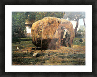 The Barnyard by Hassam Picture Frame print
