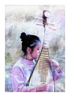 Chinese Musical Interlude Picture Frame print