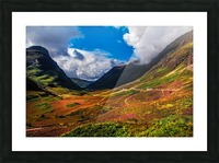 The Valley of Three Sisters. Glencoe. Scotland Picture Frame print