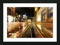 Wet tram rail Impression et Cadre photo