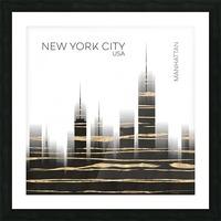 Urban Art NYC Skyline Picture Frame print