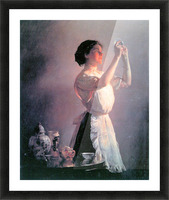 The blue cup by Joseph DeCamp Picture Frame print