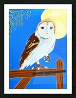 Davere H. Owl Picture Frame print