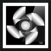 1-Golden Ratio B&W Picture Frame print
