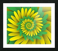 Digital Forest Picture Frame print