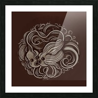 Lunar New Year Sepia Picture Frame print