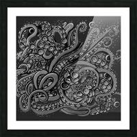Nova Greyscale Picture Frame print