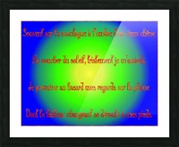 Isolement Paragraphe 1 Picture Frame print