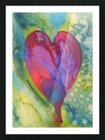 Radiant Heart II Picture Frame print