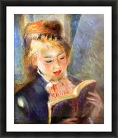 A reading girl1 by Renoir Picture Frame print