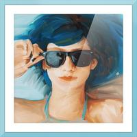 Blue Hair Picture Frame print