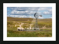 Trails Lead To Water Tanks Picture Frame print
