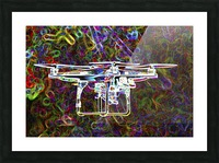 Colorful Quad Copter Picture Frame print