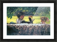 A story read by Tissot Picture Frame print