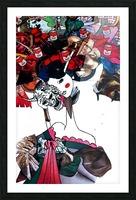 masked geisha Picture Frame print