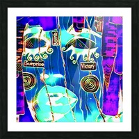 neon babe Picture Frame print
