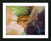 Held Your Hand Till The End Picture Frame print