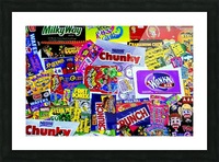 candy wrapper madness Picture Frame print