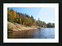 Key River Shore In Fall I Picture Frame print