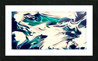 Crystal Spine - green white blue multicolor abstract swirl wall art Picture Frame print