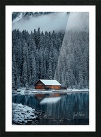 Lake Louise Cabin Picture Frame print