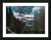 Cascade Mountain Through The Trees Picture Frame print