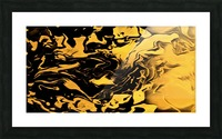 Richer fusion - gold and black gradient abstract wall art Picture Frame print