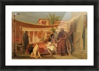 Socrates seeking Alcibiades in the House of Aspasia Picture Frame print