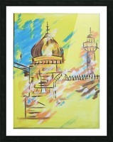 Ahson_Qazi_Geometrical_Islamic abstract artahson_qaziShades_of_DivinityIslamic_Artstretched canvass 12x16 Picture Frame print