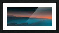 Sunset in the Mountains 3 Picture Frame print