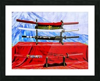 Japanese Sword Display Picture Frame print