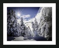 Kootenay Alpine Snow Picture Frame print