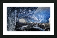 Whistler ice cave Picture Frame print