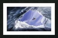Crevasse Jump Picture Frame print