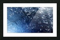 Glacier ICE formation  Picture Frame print