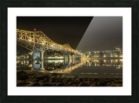 Cold refection under the B.O.B Nelson BC Picture Frame print