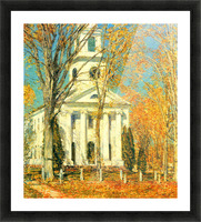 The Church of Old Lyme, Connecticut -2- by Hassam Picture Frame print