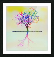 Colorful Tree 2 Picture Frame print