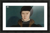 Portrait of Christina of Denmark Picture Frame print